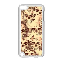 Cloudy Skulls Beige Apple Ipod Touch 5 Case (white) by MoreColorsinLife