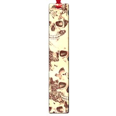 Cloudy Skulls Beige Large Book Marks by MoreColorsinLife