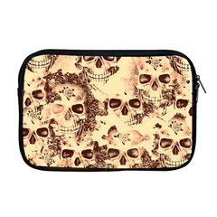 Cloudy Skulls Beige Apple Macbook Pro 17  Zipper Case by MoreColorsinLife