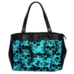 Cloudy Skulls Aqua Office Handbags by MoreColorsinLife
