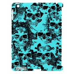 Cloudy Skulls Aqua Apple Ipad 3/4 Hardshell Case (compatible With Smart Cover) by MoreColorsinLife