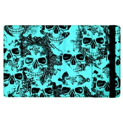 Cloudy Skulls Aqua Apple Ipad 3/4 Flip Case by MoreColorsinLife