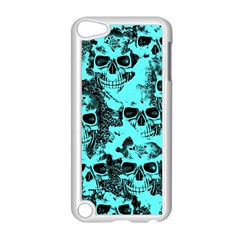 Cloudy Skulls Aqua Apple Ipod Touch 5 Case (white) by MoreColorsinLife