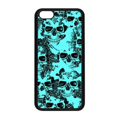 Cloudy Skulls Aqua Apple Iphone 5c Seamless Case (black) by MoreColorsinLife
