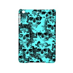 Cloudy Skulls Aqua Ipad Mini 2 Hardshell Cases by MoreColorsinLife