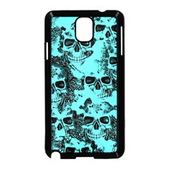 Cloudy Skulls Aqua Samsung Galaxy Note 3 Neo Hardshell Case (black) by MoreColorsinLife