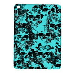 Cloudy Skulls Aqua Ipad Air 2 Hardshell Cases by MoreColorsinLife