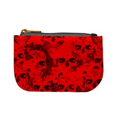 Cloudy Skulls Red Mini Coin Purses by MoreColorsinLife