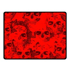 Cloudy Skulls Red Fleece Blanket (small) by MoreColorsinLife