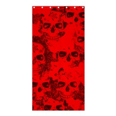 Cloudy Skulls Red Shower Curtain 36  X 72  (stall)  by MoreColorsinLife