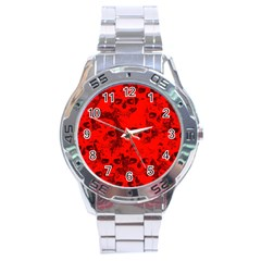 Cloudy Skulls Red Stainless Steel Analogue Watch by MoreColorsinLife