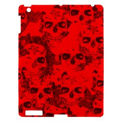 Cloudy Skulls Red Apple Ipad 3/4 Hardshell Case by MoreColorsinLife