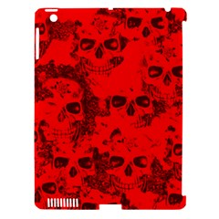 Cloudy Skulls Red Apple Ipad 3/4 Hardshell Case (compatible With Smart Cover) by MoreColorsinLife