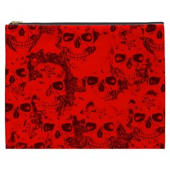 Cloudy Skulls Red Cosmetic Bag (xxxl)  by MoreColorsinLife