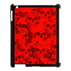 Cloudy Skulls Red Apple Ipad 3/4 Case (black) by MoreColorsinLife