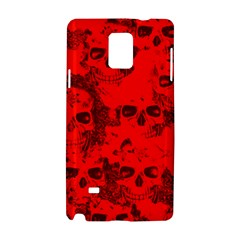 Cloudy Skulls Red Samsung Galaxy Note 4 Hardshell Case by MoreColorsinLife