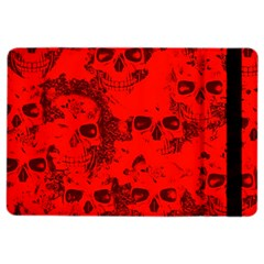 Cloudy Skulls Red Ipad Air 2 Flip by MoreColorsinLife