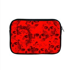 Cloudy Skulls Red Apple Macbook Pro 15  Zipper Case by MoreColorsinLife