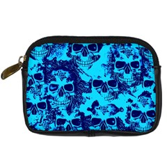 Cloudy Skulls Blue Digital Camera Cases by MoreColorsinLife