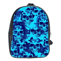 Cloudy Skulls Blue School Bags(large)  by MoreColorsinLife