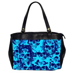 Cloudy Skulls Blue Office Handbags (2 Sides)  by MoreColorsinLife