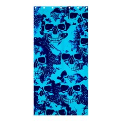 Cloudy Skulls Blue Shower Curtain 36  X 72  (stall)  by MoreColorsinLife