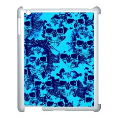 Cloudy Skulls Blue Apple Ipad 3/4 Case (white) by MoreColorsinLife