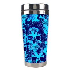 Cloudy Skulls Blue Stainless Steel Travel Tumblers by MoreColorsinLife
