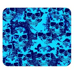 Cloudy Skulls Blue Double Sided Flano Blanket (small)  by MoreColorsinLife
