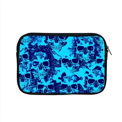Cloudy Skulls Blue Apple Macbook Pro 15  Zipper Case by MoreColorsinLife