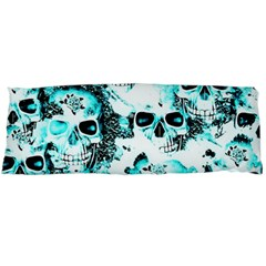Cloudy Skulls White Aqua Body Pillow Case (dakimakura) by MoreColorsinLife
