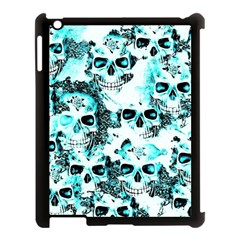 Cloudy Skulls White Aqua Apple Ipad 3/4 Case (black) by MoreColorsinLife