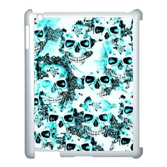 Cloudy Skulls White Aqua Apple Ipad 3/4 Case (white) by MoreColorsinLife