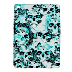 Cloudy Skulls White Aqua Ipad Air 2 Hardshell Cases by MoreColorsinLife