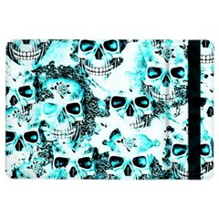 Cloudy Skulls White Aqua Ipad Air 2 Flip by MoreColorsinLife