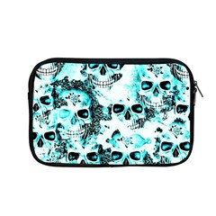 Cloudy Skulls White Aqua Apple Macbook Pro 13  Zipper Case by MoreColorsinLife