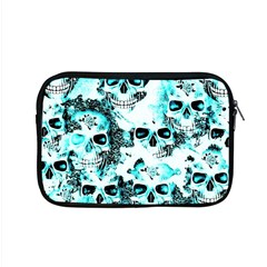 Cloudy Skulls White Aqua Apple Macbook Pro 15  Zipper Case by MoreColorsinLife
