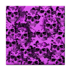 Cloudy Skulls Pink Tile Coasters by MoreColorsinLife