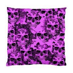Cloudy Skulls Pink Standard Cushion Case (two Sides) by MoreColorsinLife
