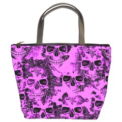 Cloudy Skulls Pink Bucket Bags by MoreColorsinLife