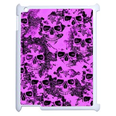 Cloudy Skulls Pink Apple Ipad 2 Case (white) by MoreColorsinLife
