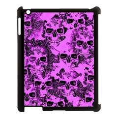 Cloudy Skulls Pink Apple Ipad 3/4 Case (black) by MoreColorsinLife