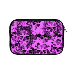 Cloudy Skulls Pink Apple Macbook Pro 13  Zipper Case by MoreColorsinLife