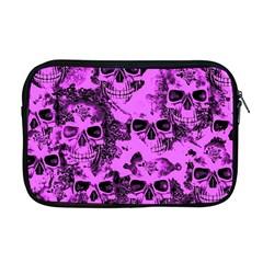 Cloudy Skulls Pink Apple Macbook Pro 17  Zipper Case by MoreColorsinLife