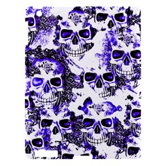 Cloudy Skulls White Blue Apple Ipad 3/4 Hardshell Case by MoreColorsinLife