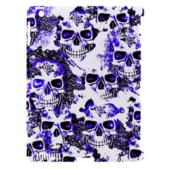 Cloudy Skulls White Blue Apple Ipad 3/4 Hardshell Case (compatible With Smart Cover) by MoreColorsinLife