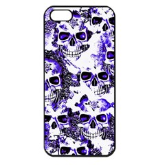 Cloudy Skulls White Blue Apple Iphone 5 Seamless Case (black) by MoreColorsinLife