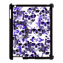 Cloudy Skulls White Blue Apple Ipad 3/4 Case (black) by MoreColorsinLife