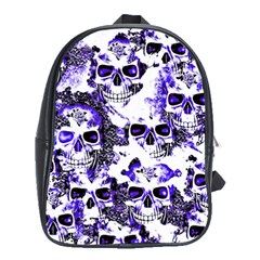 Cloudy Skulls White Blue School Bags (xl)  by MoreColorsinLife