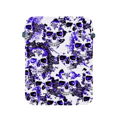 Cloudy Skulls White Blue Apple Ipad 2/3/4 Protective Soft Cases by MoreColorsinLife